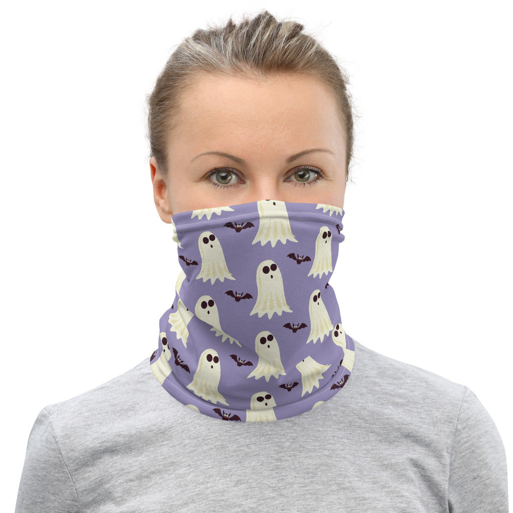 Ghosts and Bats Print Face Mask/Neck Gaiter