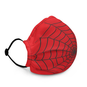 Halloween Spider Web Red Face Mask