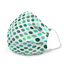 Load image into Gallery viewer, Green Polka Dot Premium Face Mask