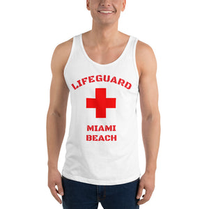 Miami Beach Lifeguard Mens Vest/Tank Top