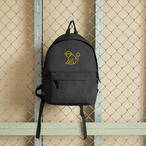 Embroidered Yellow Logo Backpack