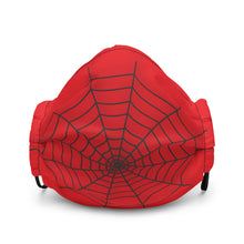 Load image into Gallery viewer, Halloween Spider Web Red Face Mask