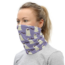 Load image into Gallery viewer, Ghosts and Bats Print Face Mask/Neck Gaiter