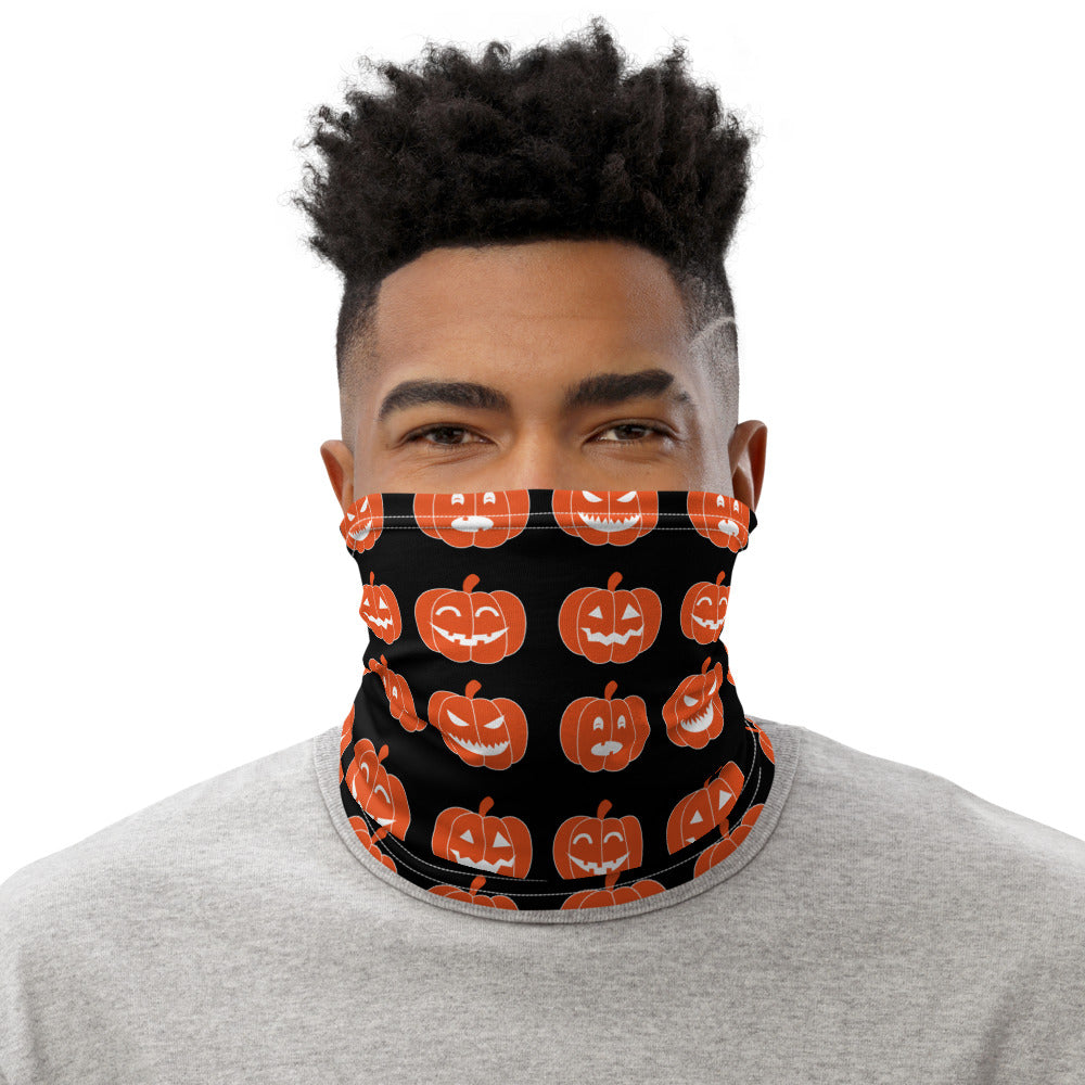Pumpkin Print Face Mask/Neck Gaiter