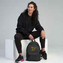 Load image into Gallery viewer, Embroidered Yellow Logo Backpack
