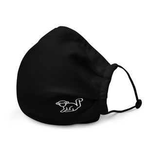 Subtle Logo Premium Black Face Mask
