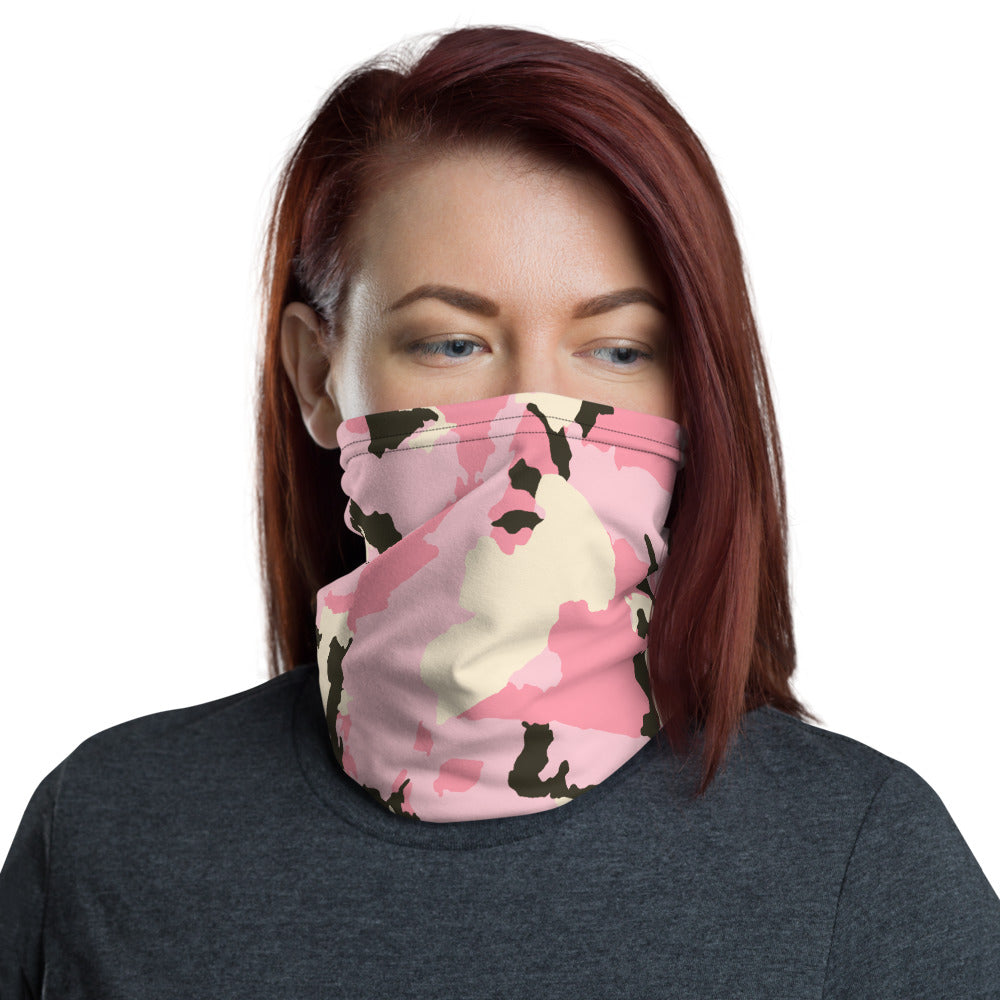 Pink Camo Face Mask/Neck Gaiter