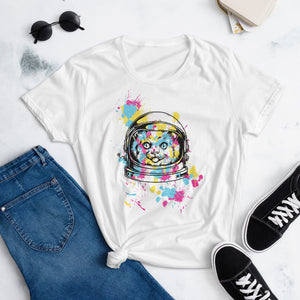Cat in Space Womens T-Shirt