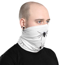 Load image into Gallery viewer, White Spider Print Face Mask/Neck Gaiter