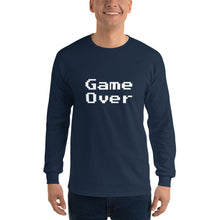 Load image into Gallery viewer, Retro Game Over Men's Long Sleeve Shirt