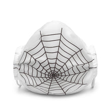 Load image into Gallery viewer, Halloween Spider Web White Face Mask