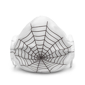 Halloween Spider Web White Face Mask