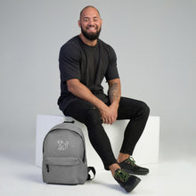 Load image into Gallery viewer, Embroidered White Logo Backpack