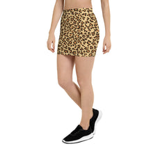 Load image into Gallery viewer, Leopard Print Womens Mini Skirt