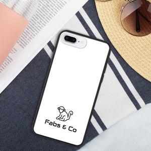 Black Original Logo White Biodegradable Phone Case