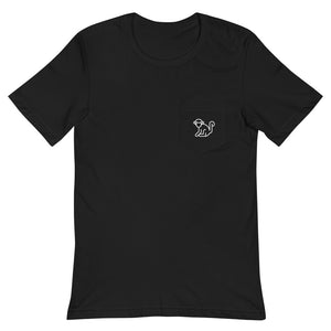 White Pocket Logo Mens T-Shirt