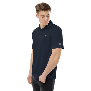 Fabs & Co x Champion White Logo Mens Polo Shirt