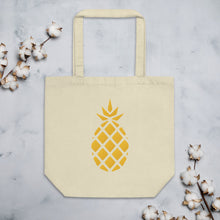 Load image into Gallery viewer, Pineapple Print Eco Tote Bag