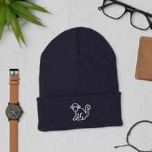 Load image into Gallery viewer, White Logo Cuffed Beanie