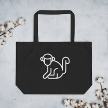 Load image into Gallery viewer, Large White Logo Organic Tote Bag