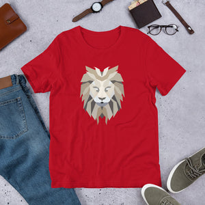 Polygon Lion Mens T-Shirt