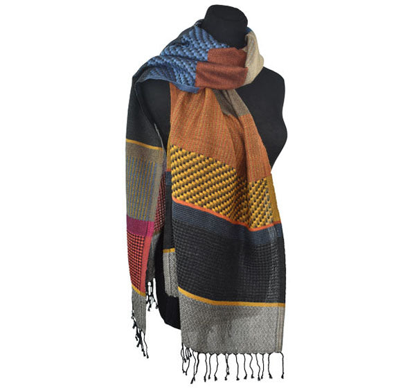 cotton acrylic wool scarf multiple colors