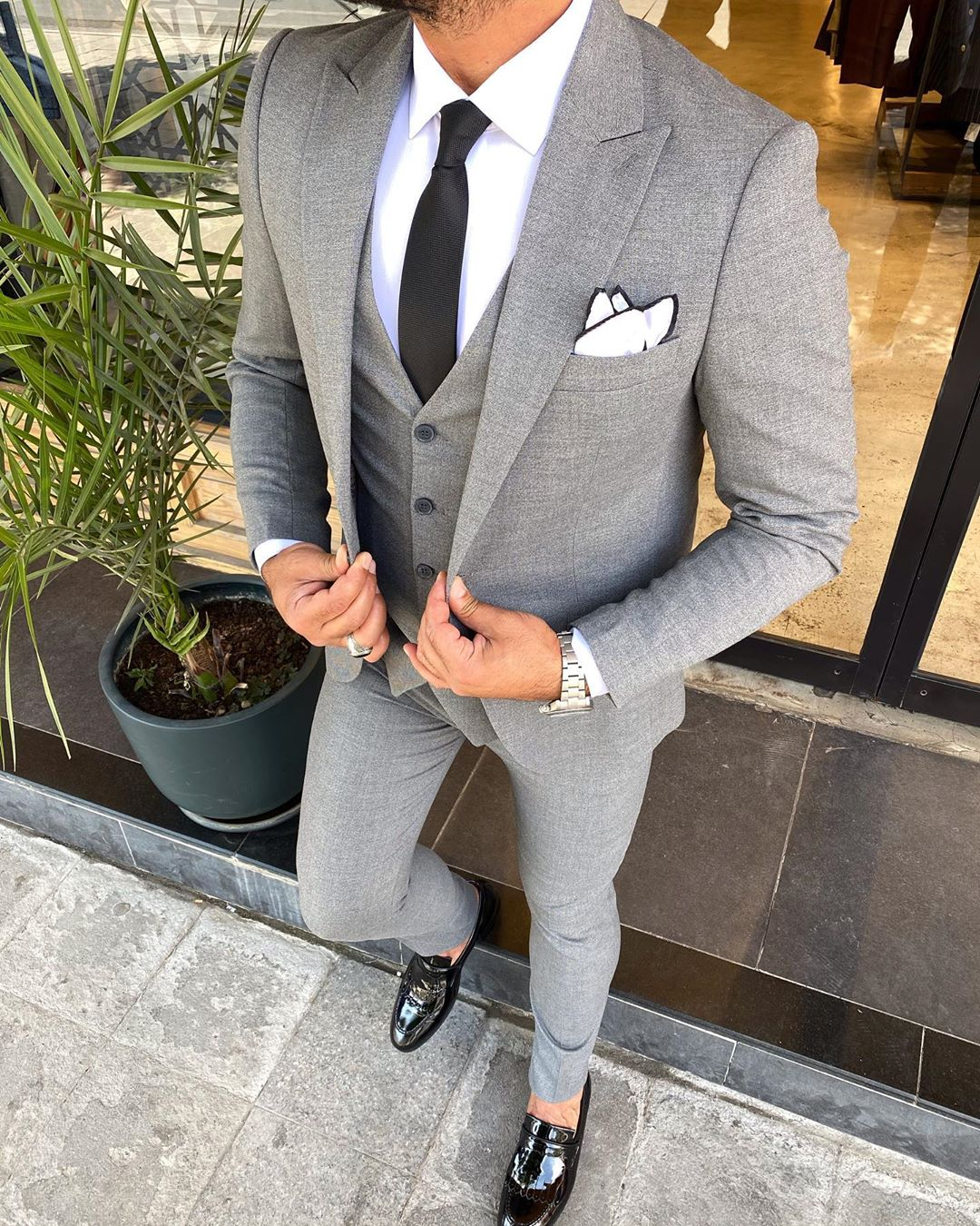 Napoli Grey 3 Piece Suit