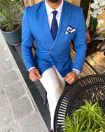Load image into Gallery viewer, Napoli Double Breasted Light Blue Suit