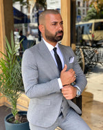 Load image into Gallery viewer, Napoli Grey 3 Piece Suit
