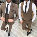 Load image into Gallery viewer, Ferrar Shimmer Khaki 3 Piece Suit