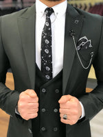 Load image into Gallery viewer, Ferrar Shimmer Black 3 Piece Suit
