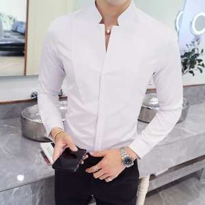 Men's Realm Stand Collar Shirt