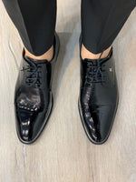 Load image into Gallery viewer, Black Leather Dress Shoes