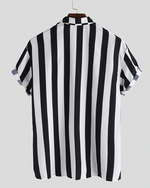 Load image into Gallery viewer, Black Casual Striped Shirt