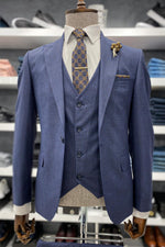 Load image into Gallery viewer, Portland Navy Blue Suit Set