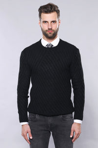 Black Patterned Sweater
