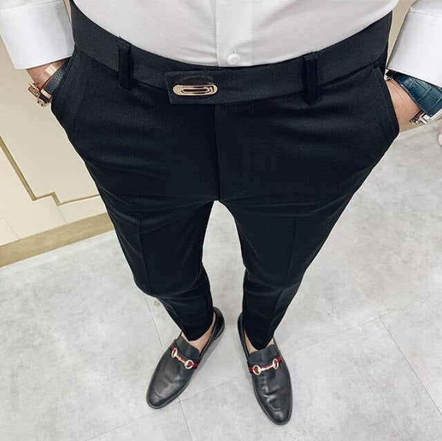 Casual Slim Fit Dress Pants