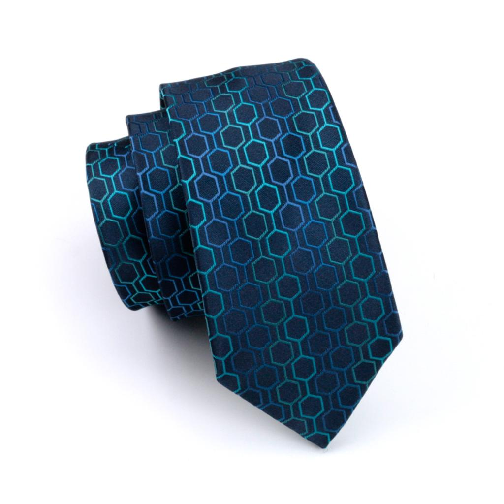 Blue Patterned Tie
