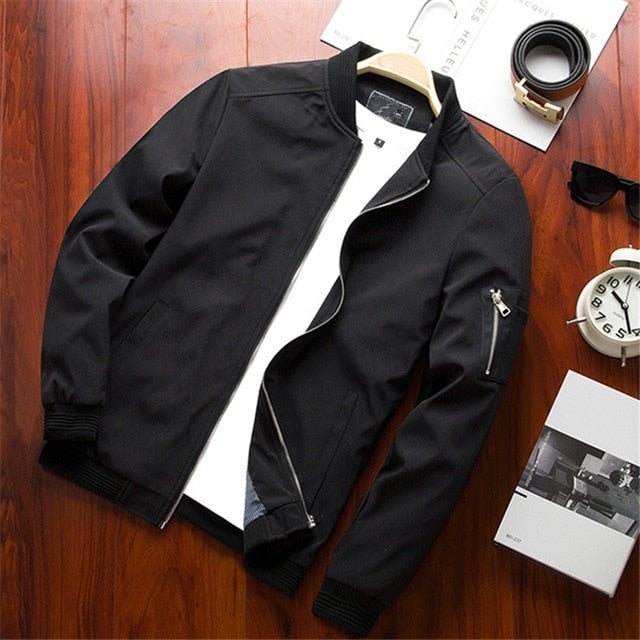 Men's Realm Slim Fit Bomber Jacket