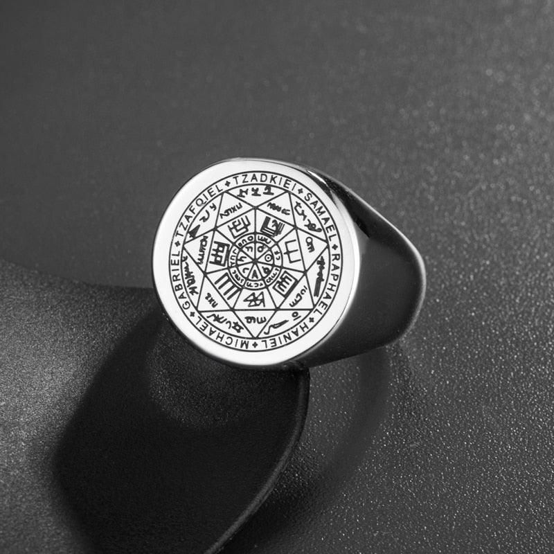 Seal of The Seven Archangels Ring