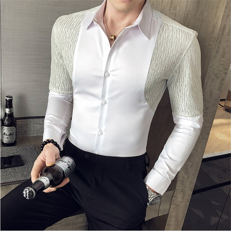 Men's Realm Patched Dress Shirt