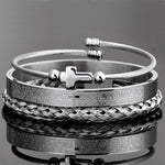 Load image into Gallery viewer, Steel Bracelet Set (3 pcs)