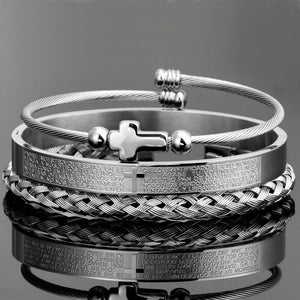 Steel Bracelet Set (3 pcs)