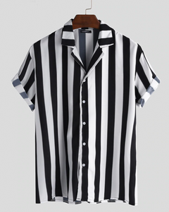 Black Casual Striped Shirt