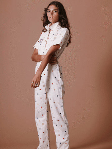 Sugar High Love Stoned Drop Dead Coveralls