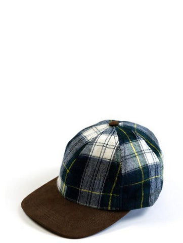 Raised By Wolves Plaid Hunting Cap Blue