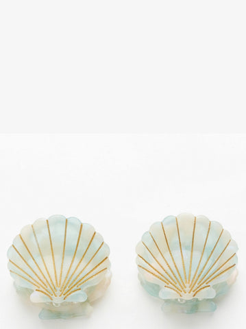 Valet Studio Ursula Shell Clips Mint