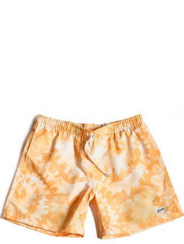 Bather Yellow Tie Dye Swim Trunk