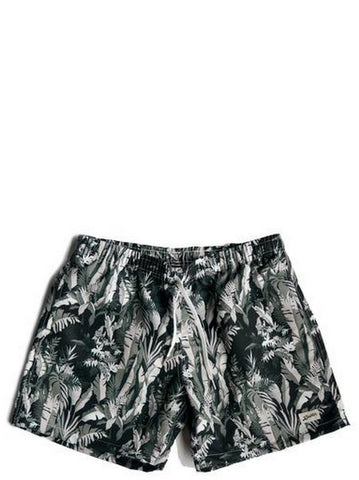 Bather Green Tropical Forest Swim Trunk