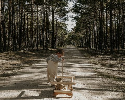 child in forest - environment